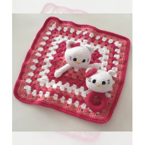 Set Manta De Apego Y Juguete Hello Kitty