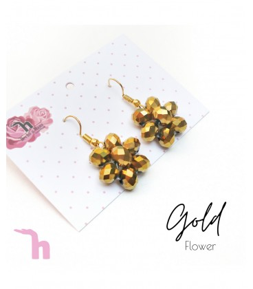 Aretes Flower Gold